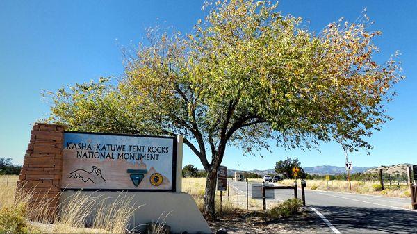 Entrée Kasha Katuwe Tent Rocks National Monument