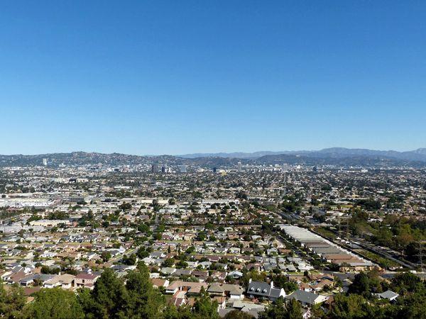 Los Angeles depuis le parc Kenneth Hahn