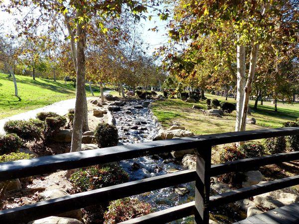 Rivière du parc Kenneth Hahn Los Angeles