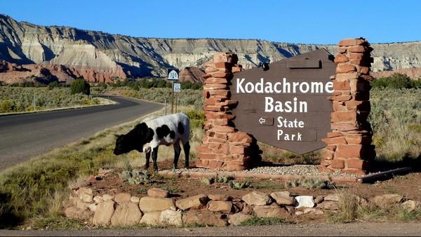 Entrée du parc Kodachrome Basin
