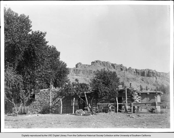 Moen Abbe, a house built and occupied by John D. Lee, Grand Canyon, Arizona, ca.1900