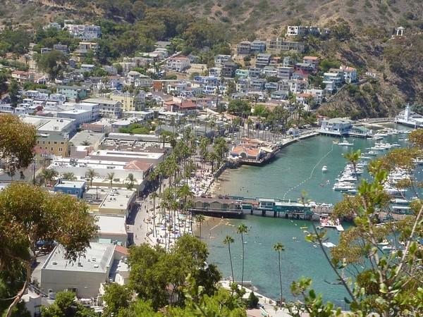Vue sur la baie Santa Catalina Island Californie