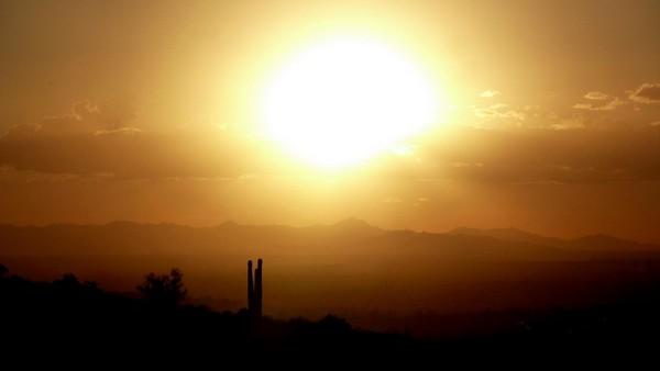 Lost Dutchman au coucher du soleil