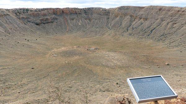Panneau explicatif point de vue Meteor Crater