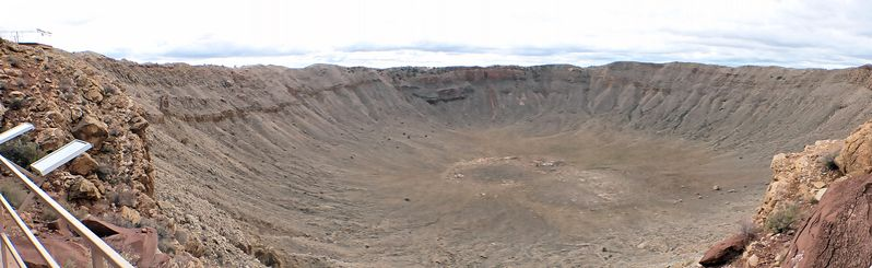 Vue panoramique sur le Meteor Crater