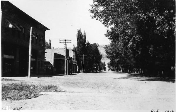Scene on Main Street, Moab, Grand County, Utah. September, 14, 1914