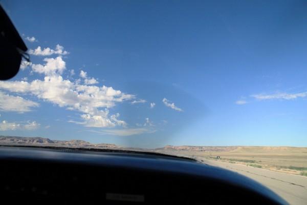 Survol en avion de la région de Moab