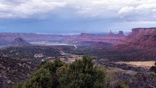 Castle Valley depuis la La Sal Mountain Loop Road