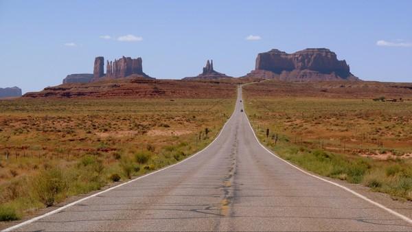 Monument Valley en arrivant par la US 163