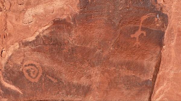Pétroglyphes Monument Valley