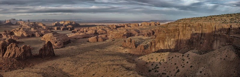 Monument Valley Sunset depuis Hunts Mesa