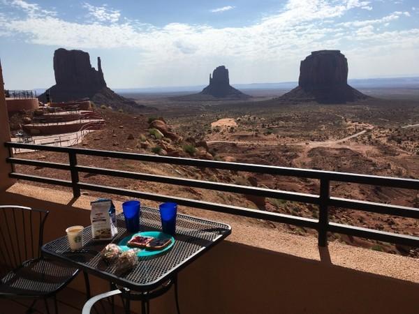 """Balcon d'une chambre """"Non Premium"""" The View Monument Valley"""