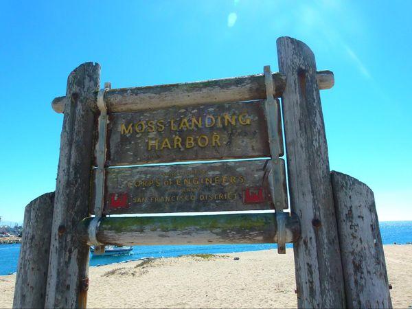 Panneau Moss Landing Harbor Californie