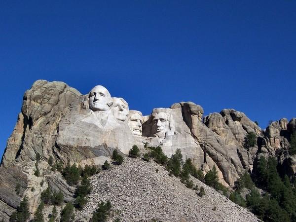 Vue depuis Grand View Terrace Mont Rushmore