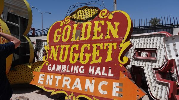 Enseigne du Golden Nugget Las Vegas