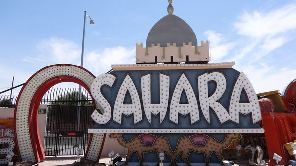 Enseigne du Sahara Neon Museum Las Vegas