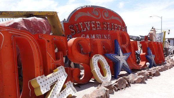 Enseignes Silver Slipper Desert Inn Neon Museum Las Vegas