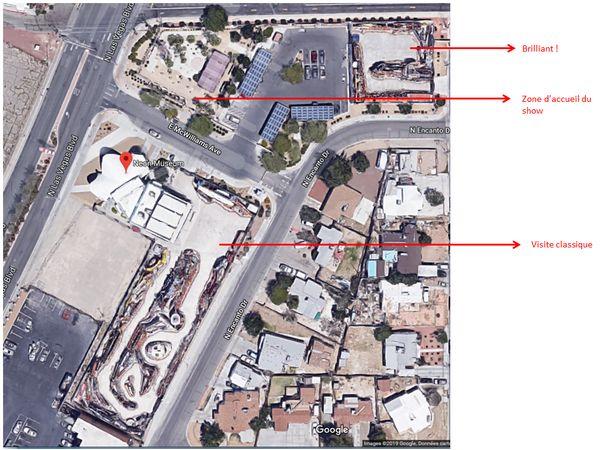 Plan de situation Brilliant Show Neon Museum Las Vegas