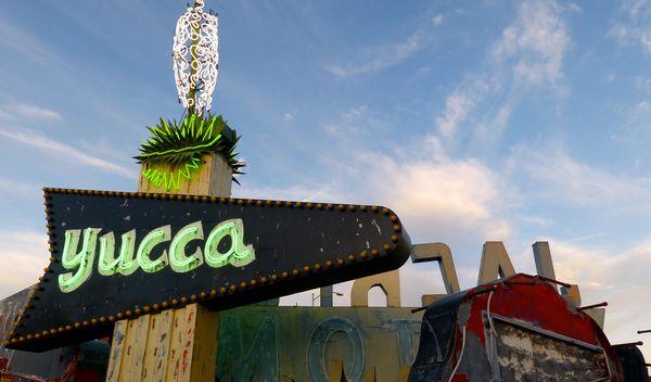 Enseigne Yucca Motel Neon Museum Las Vegas