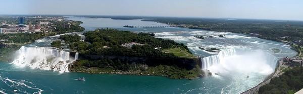 American Falls, Bridal Veil et Horseshoe Falls