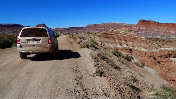 La piste par temps sec Old Paria Movie Set Utah