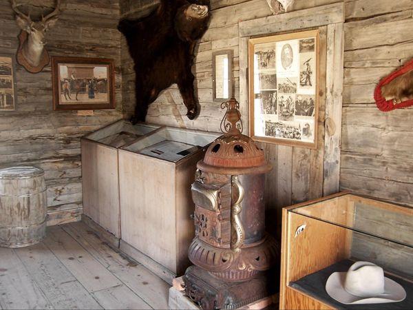 Homestead cabin, 1899 (Wood River, à l'ouest de Meeteetse)