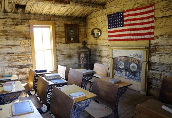 The Coffin School Old Trail Town Wyoming