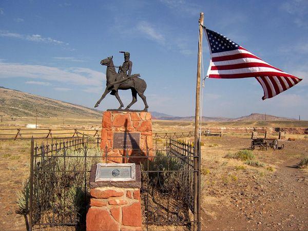 Tombe de Jeremiah Johnson Old Trail Town Wyoming