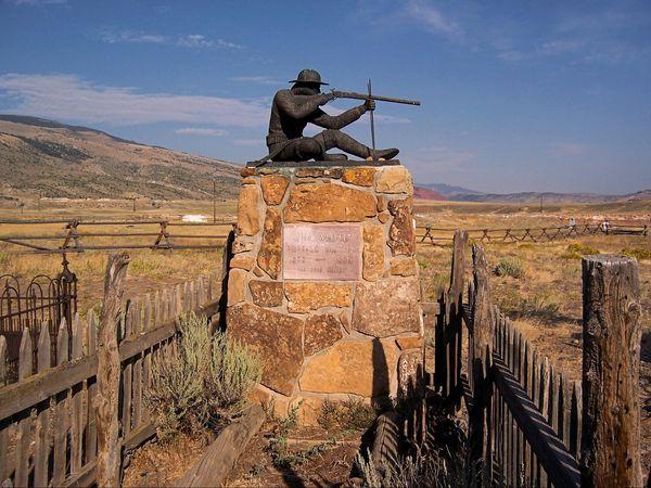 Tombe de Jim White Old Trail Town Wyoming