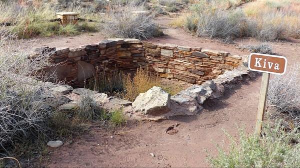 Kiva Puerco Pueblo Petrified Forest National Park Arizona