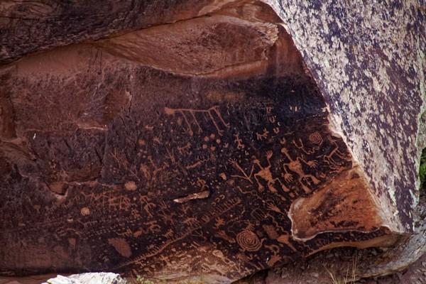 Newspaper Rock Petrified Forest National Park Arizona