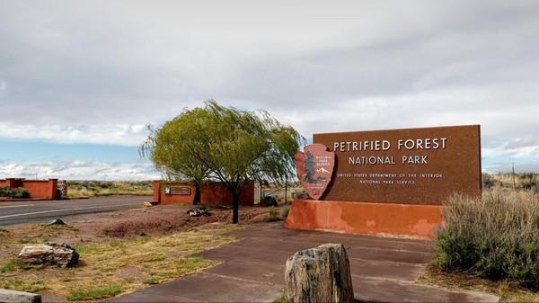 Entrée Petrified Forest National Park Arizona