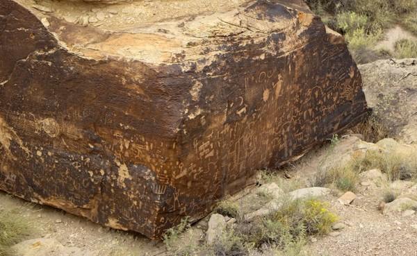 Pétroglyphes de Newspaper Rock Petrified Forest National Park Arizona