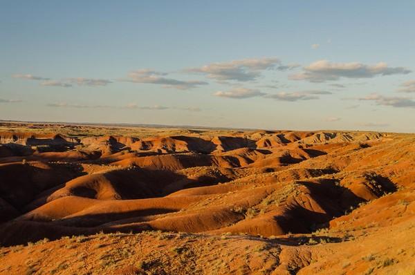 Tiponi Point au crépuscule Painted Desert Arizona