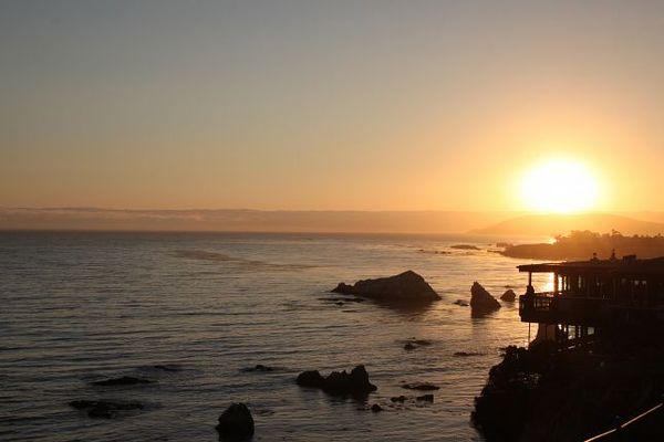 Sunset Pismo Beach Californie
