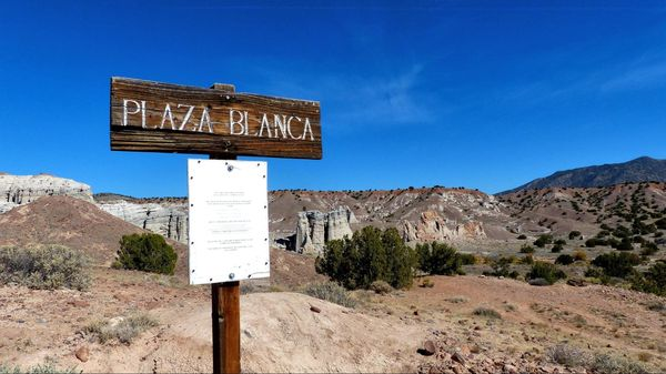 Vue depuis le parking Plaza Blanca