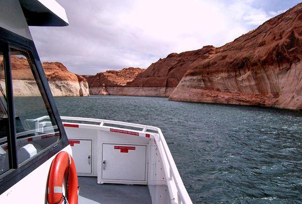 A bord bateau croisière Rainbow Bridge Tour