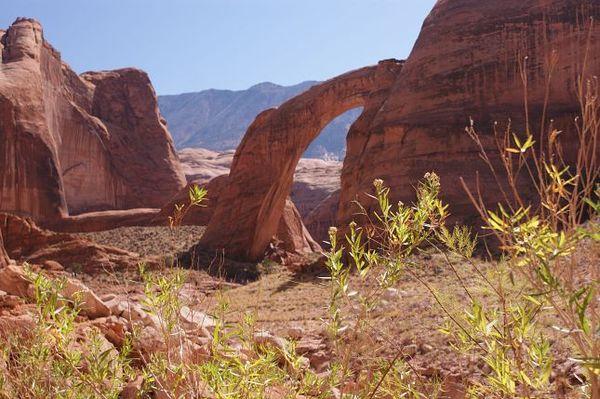 Sur le sentier, à l'approche du pont sacré du Rainbow Bridge