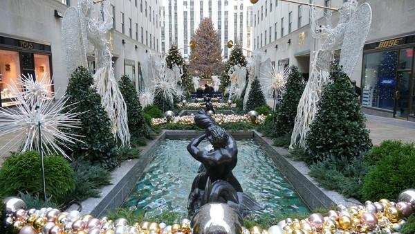 Jardins de la Manche en décembre Rockefeller Center New York
