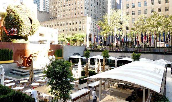 Terrasse café Rockefeller Center New York