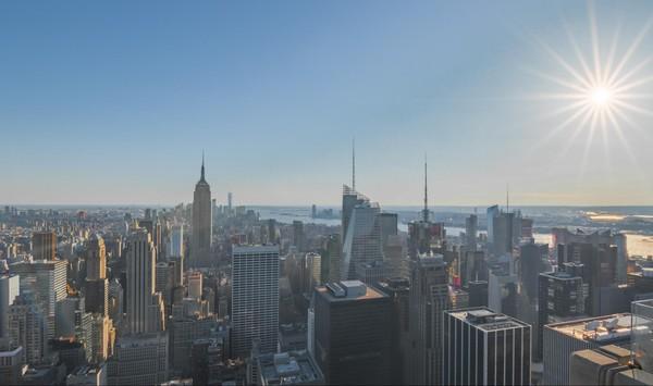 Vue sur New York depuis la terrasse du Top of The Rock