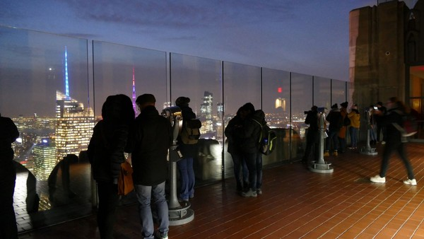 Terrasse Top of the Rock New York