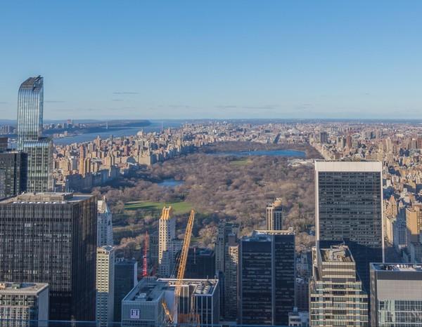 Vue sur Central Park depuis Top of the Rock New York