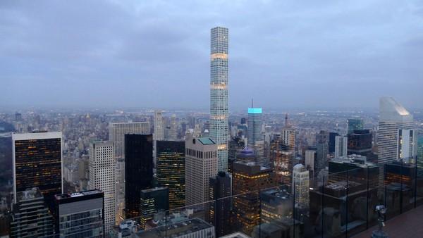 Le 432 Park Avenue vu depuis le Top of the Rock New York