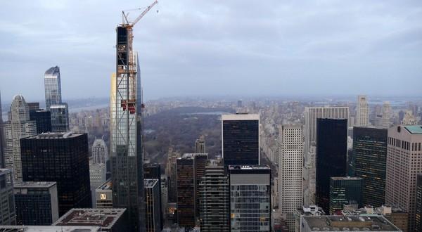 La Central Park Tower vue depuis le Top of the Rock New York
