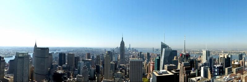 Manhattan vu en matinée depuis le Top of the Rock