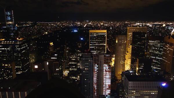 Central Park de nuit vu depuis le Top of the Rock