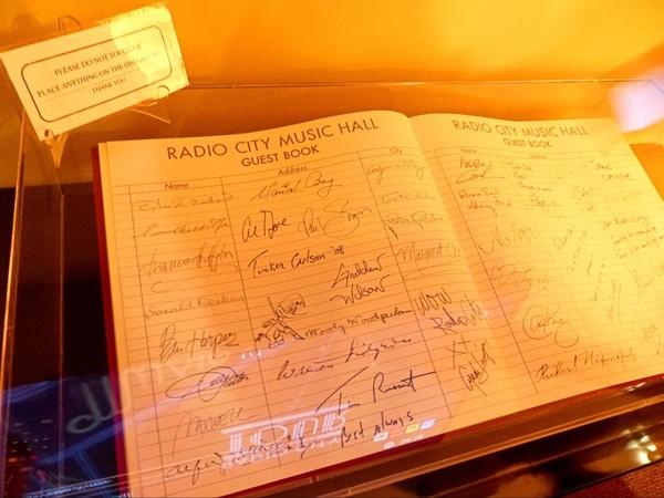 Guestbook Radio City Music Hall New York