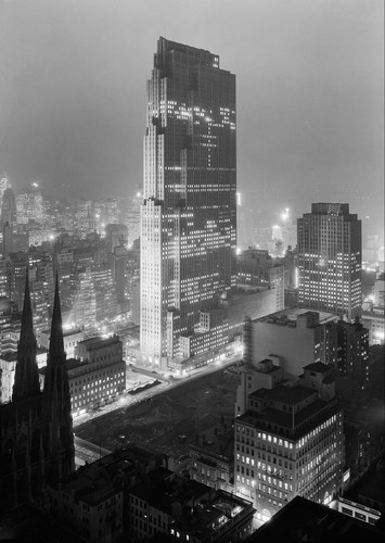 Rockefeller Center en construction 1933