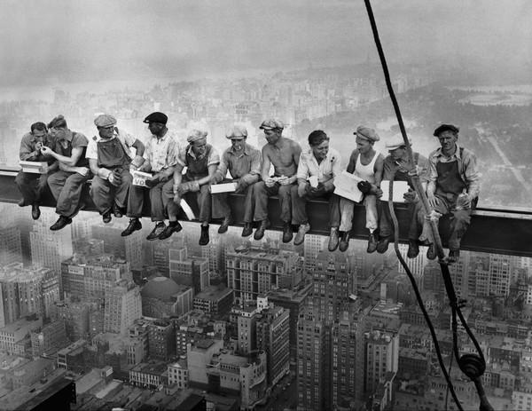 Lunch atop a Skyscraper Rockefeller Center New York